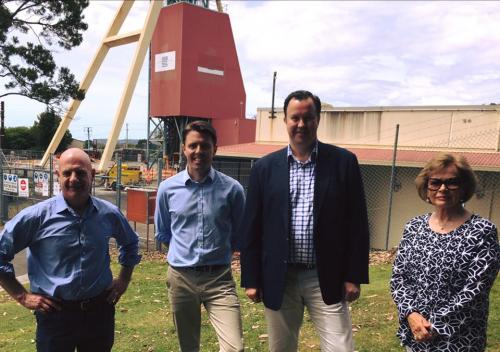 With the Liberal Member for Bass, Peter Gutwein MP, Senator David Bushby and Mayor Holmdahl, West Tamar Council