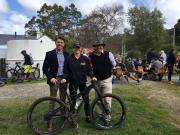 With Liberal Member for Bass, Sarah Courtney MP and former Federal Liberal Member for Lyons, Eric Hutchinson  at the opening of Blue Tiers Bike Track