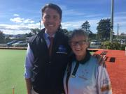 Chatting to Gail Powell, a member of the Brighton Bowls Club