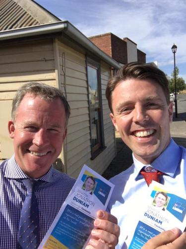 Out and about doorknocking with the Premier in Oatlands