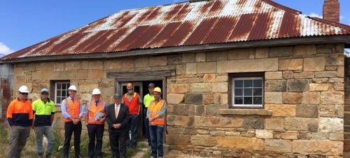 Inspecting the Oatlands Commissariat (1827) Restoration Project