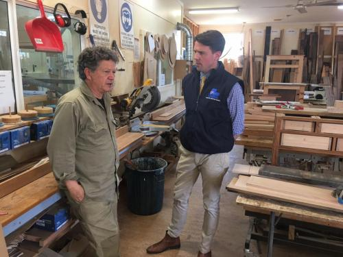 Visiting the Deloraine Community Shed
