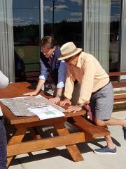 Inspecting the plans for the redevelopment at the Brighton Bowls Club
