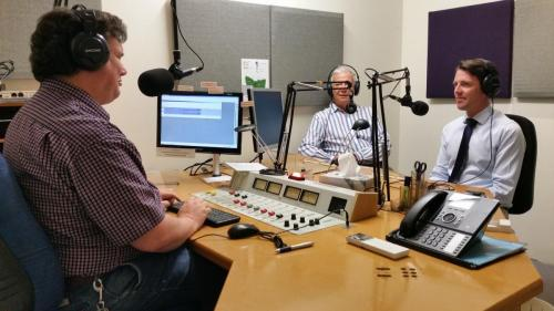 Chatting with the great crew at Print Radio Tasmania