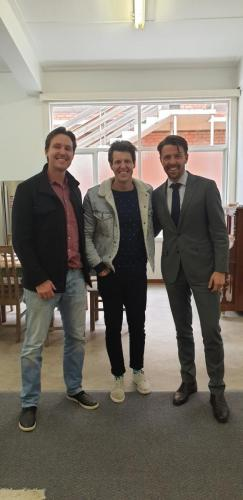 With Ben Milbourne and Simon Hamilton from Cultivate Productions