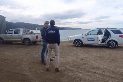 Visiting Tasman Sea Salt in Little Swanport