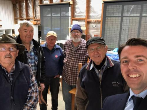 Dropped in to the Beaconsfield Men's Shed to see all th great things they are doing for the community.