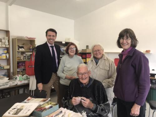 Meeting with members of the Spring Bay Potters