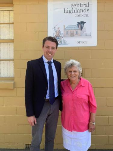Catching up with Central Highlands Council Mayor, Loueen Triffitt