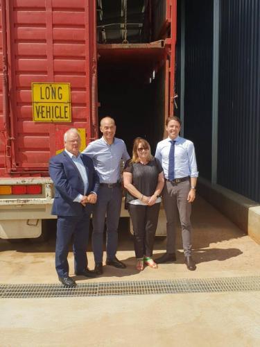 Inspecting the new Powranna truck wash facility