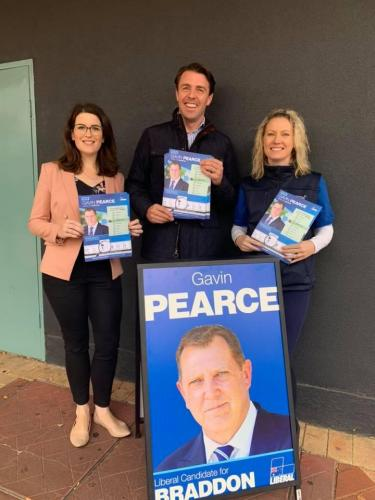 Campaigning for Gavin Pearce