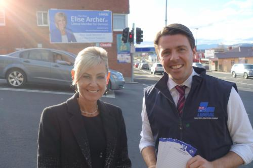 With Liberal Member for Denison, Elise Archer MP