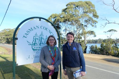 With Mayor Roseanne Heyward of the Tasman Council