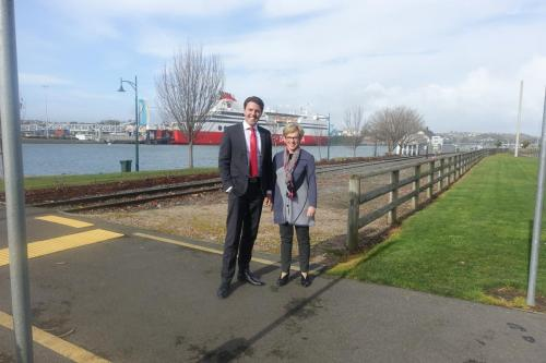Catching up with Liberal Member for Braddon, Joan Rylah MP in Devonport