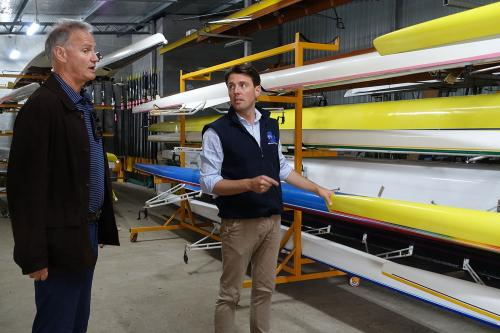 With New Norfolk Rowing Club President, Peter Nichols