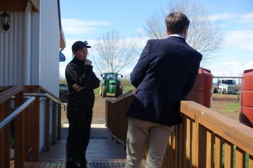 With Christie Macleod, owner ofHazelbrae Hazelnuts in Westbury