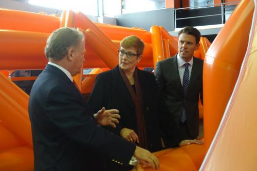 Visiting Liferaft Systems Australia with Defence Minister Senator Marise Payne