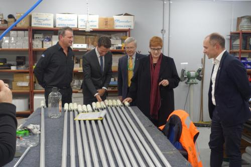 Visiting CBG Systems with Defence Minister Senator Marise Payne