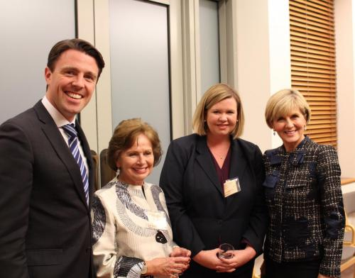With the Hon Julie Bishop MP, Mayor Christina Holmdahl, West Tamar Council and Mayor Bridget Archer, George Town Council
