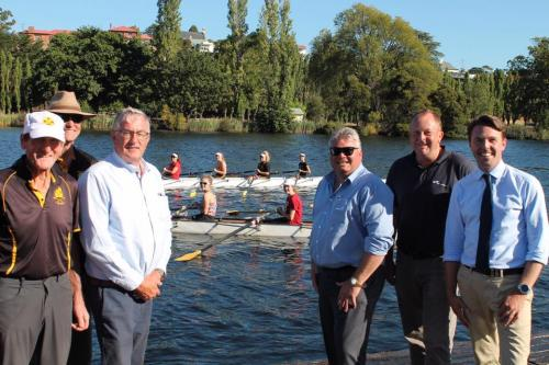Announcing the significant financial boost to the New Norfolk Rowing Club