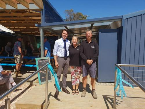 Officially opening stage one of the expansion of the Freycinet Marine Farm