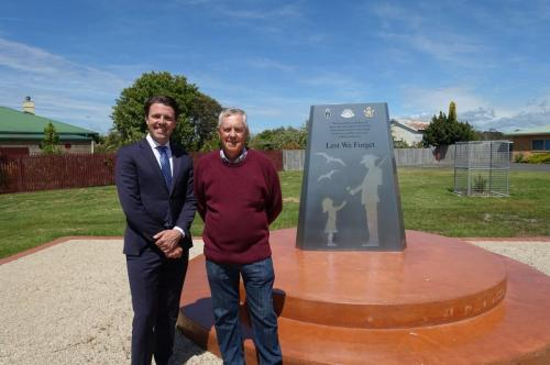 With Rod Bramich, Chairman of the Port Sorell Defence Memorial