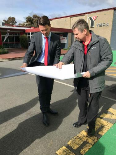 Inspecting the exciting plans for development at the YMCA Glenorchy
