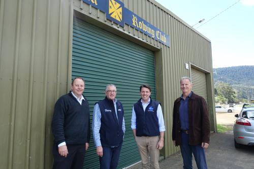 With Liberal Member for Lyons, Rene Hidding MP, and New Norfolk Rowing Club President, Peter Nichols and Building Manager, John Bannon